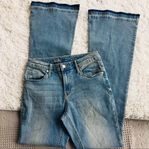 Mossimo High Rise Flare Faded Soft Stretch Jeans